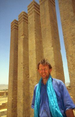 Michael Wood in Marib, Yemen