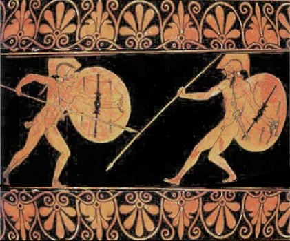 a literary analysis of the greek trojan war in the iliad by homer The trojan war (1) ilion or troy:  homer's iliad deals with an episode from this war  now this is to some extent a literary game,.