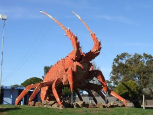 giant crayfish sculpture