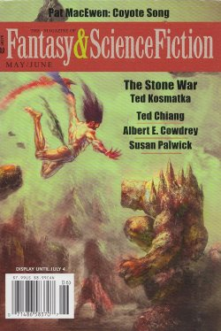Fantasy & Science Fiction, May/June 2016, cover by Max Bertolini