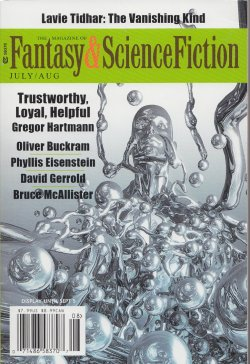 Fantasy & Science Fiction, July/Aug 2016, cover by Mondolithic Studios