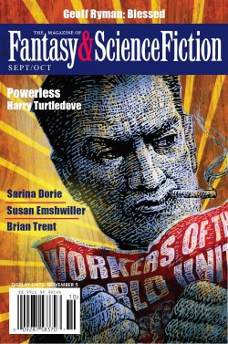 Fantasy & Science Fiction, September/October 2018, cover by Michael Garland