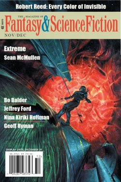 Fantasy & Science Fiction, November/December 2018, cover by Alan M. Clark